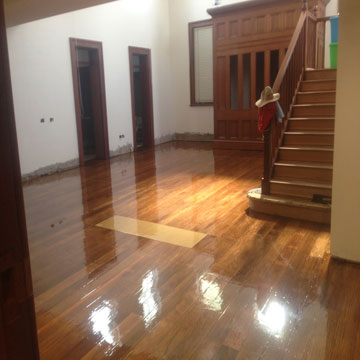 120 Year Old Floor Gloss Finish